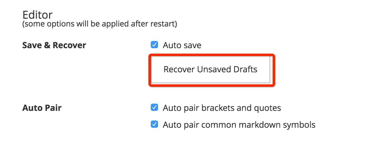 Version Control and Recovery